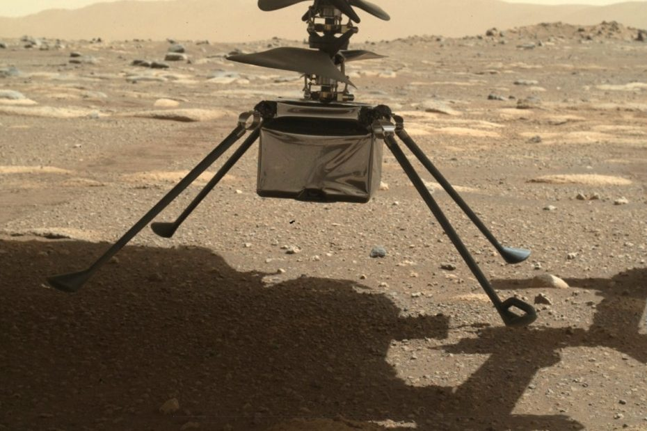 NASA helicopter on Mars